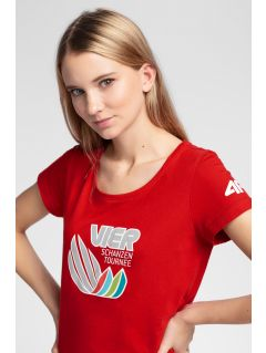 Damen T-Shirt 4Hills TSD101 - rot